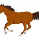 走る馬のイラスト