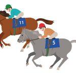 2頭の競走馬のイラスト